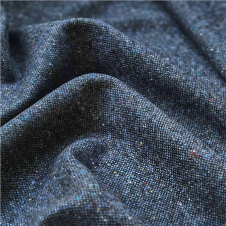 Blue Flecked Salt & Pepper Donegal Tweed  - Click to view a larger image