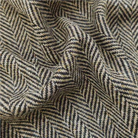 Errigal - Black & Oat Herringbone Donegal Tweed 1