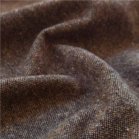 Brown Salt & Pepper Flecked Donegal Tweed  - Click to view a larger image