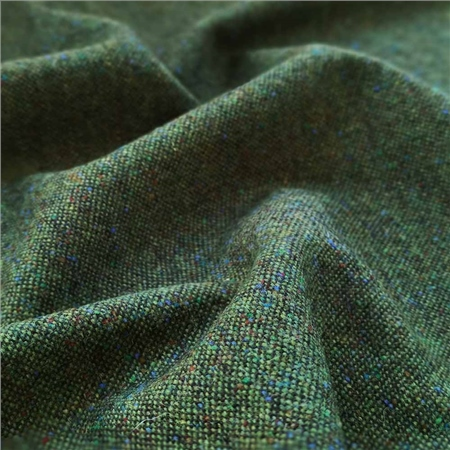 Green Salt & Pepper Flecked Donegal Tweed  - Click to view a larger image