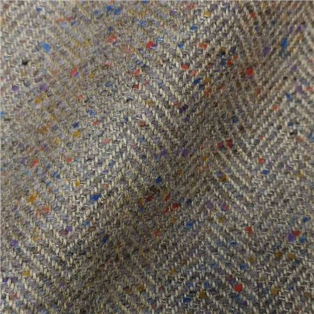 Limited Edition - Multicoloured Linen Blend Herringbone Tweed  - Click to view a larger image