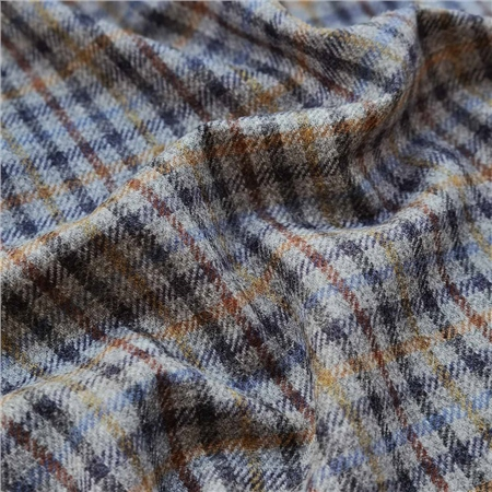 Rockall - Multicoloured Gingham Check Donegal Tweed  - Click to view a larger image