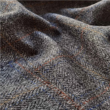 Rockall - Multicoloured Windowpane Check Donegal Tweed  - Click to view a larger image