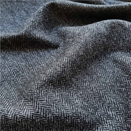 Rockall - Grey Herringbone Donegal Tweed  - Click to view a larger image