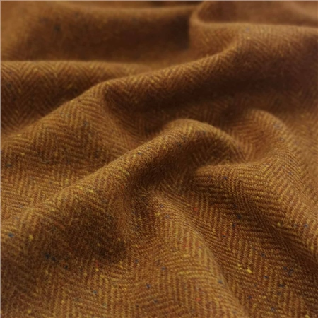 Limited Edition - Orange Herringbone Donegal Tweed  - Click to view a larger image