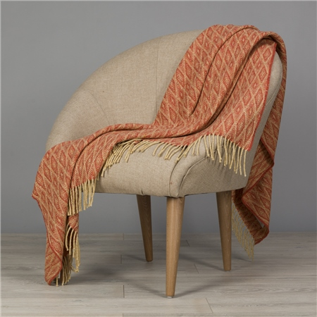 Yellow & Orange Wigwam Throw  - Click to view a larger image