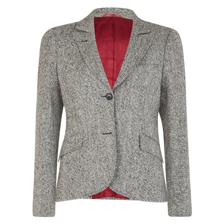 Grey Lily Salt & Pepper Donegal Tweed Jacket  - Click to view a larger image