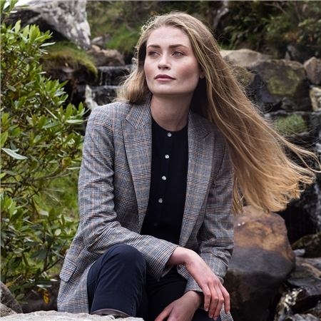Glencheck Moyne Donegal Tweed Jacket  - Click to view a larger image