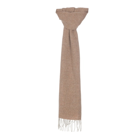 Cream & Orange Broken Twill Scarf 1