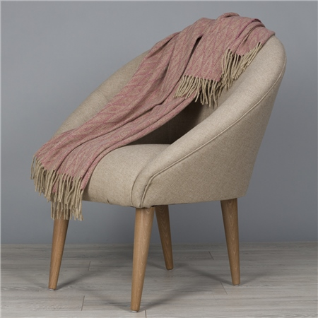 Camel & Light Pink Wigwam Throw  - Click to view a larger image
