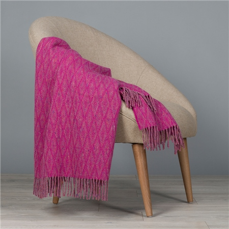 Pink & Purple Wigwam Throw  - Click to view a larger image