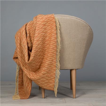 Camel & Orange Wigwam Throw  - Click to view a larger image
