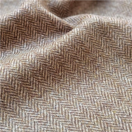 Rockall - Brown Herringbone Donegal Tweed  - Click to view a larger image