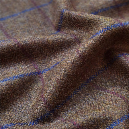 Rockall - Brown Windowpane Check Donegal Tweed  - Click to view a larger image