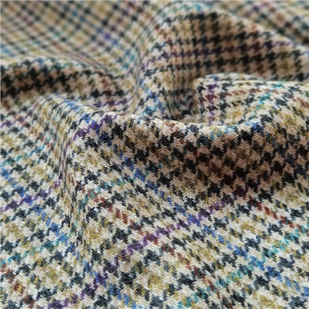 Rockall - Coloured Houndstooth Donegal Tweed  - Click to view a larger image