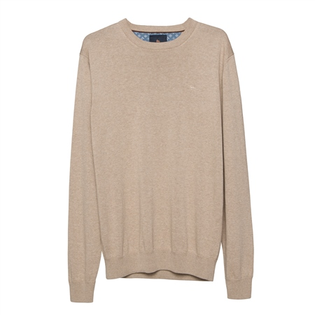 Carn Cotton Crew Neck Jumper in Oat 1