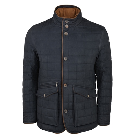 Glenveigh Quilted Jacket in Navy 1