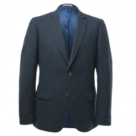 Blue Donegal Tweed 3-Piece Suit  - Click to view a larger image