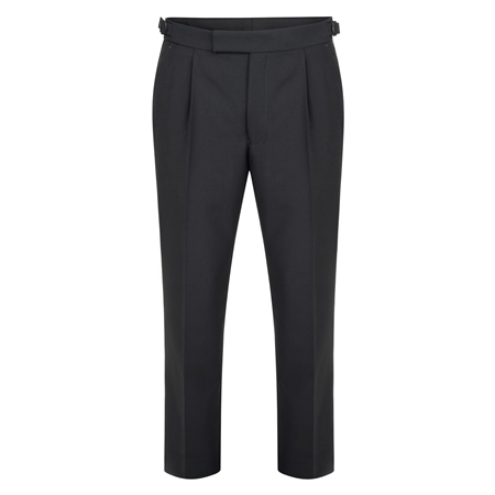 Black Single Pleat Dinner Suit Trouser  - Click to view a larger image