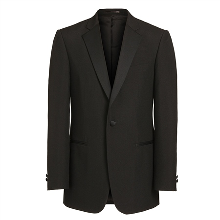 Black Single Breasted Dinner Suit Jacket  - Click to view a larger image