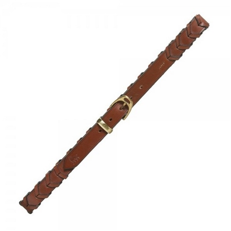Cork Soft Brown Plaited Leather Belt   - Click to view a larger image