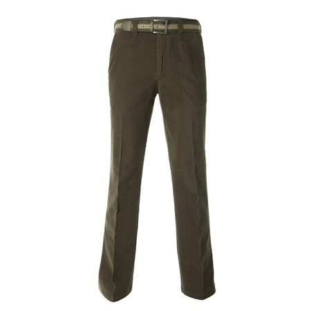 Magee 1866 - Dark Green Cotton Stretch Chino