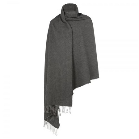 Light Grey & Charcoal Large Pashmina  - Click to view a larger image