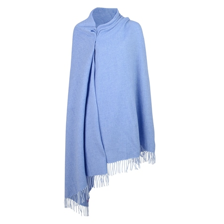 Blue & White Large Pashmina   - Click to view a larger image