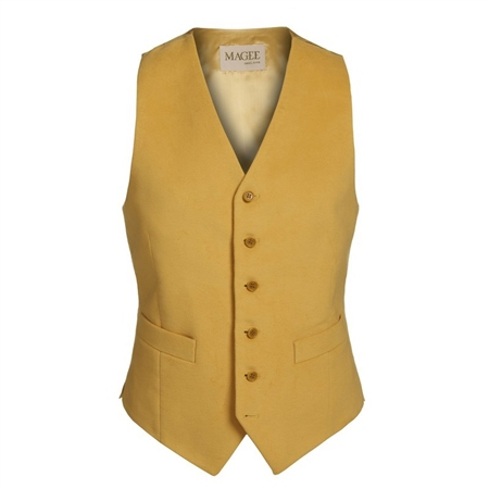 Yellow Moleskin Waistcoat   - Click to view a larger image