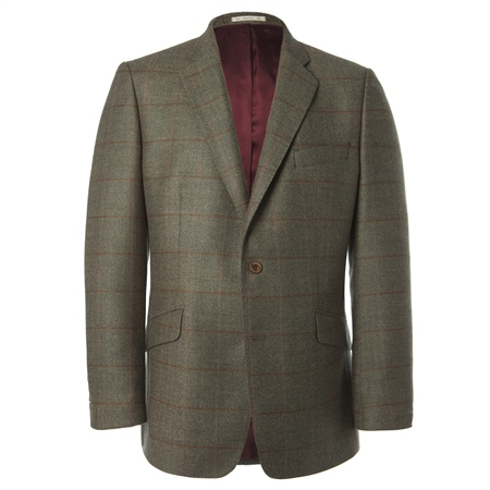 Lightweight Wool Green Check Blazer   - Click to view a larger image