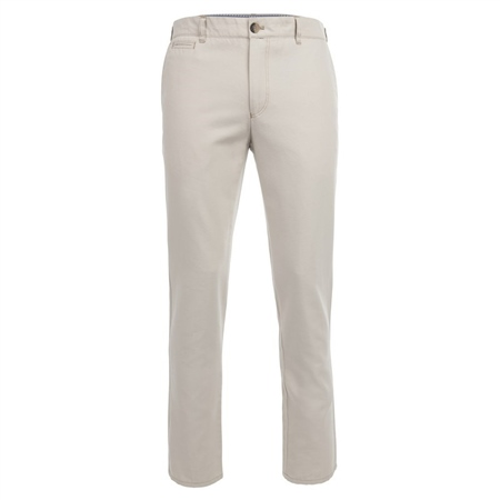 Tully - Beige Cotton Canvas Chinos  - Click to view a larger image
