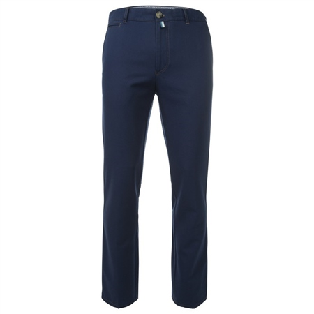Tully Navy Cotton Canvas Regular Fit Chinos  - Click to view a larger image