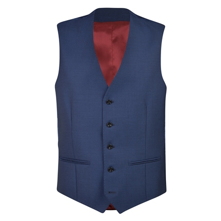 Cobalt Blue Travel Mix & Match 3 Piece Waistcoat  - Click to view a larger image