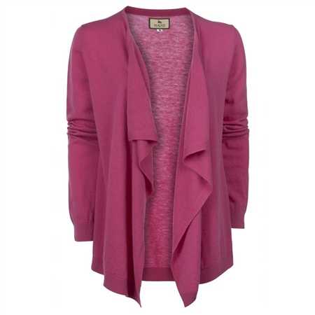 Magee 1866 - Bubblegum Pink Merino Waterfall Cardigan
