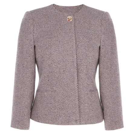 Silk Blend Cropped Jacket  - Click to view a larger image