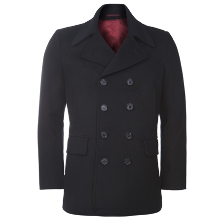 Dark Navy Double Breasted Peacoat Jacket  - Click to view a larger image