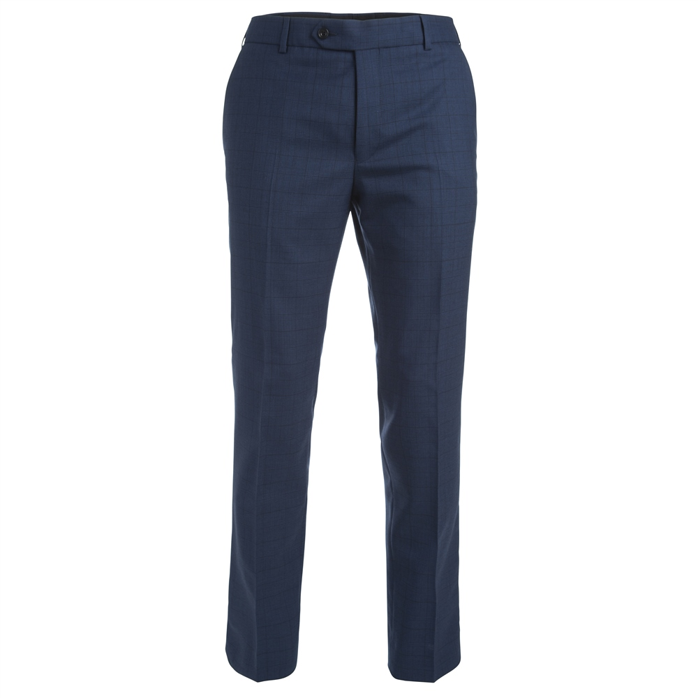 e085d3a6c Navy Check 3 Piece Tailored Fit Suit Trouser - Click to view a larger image