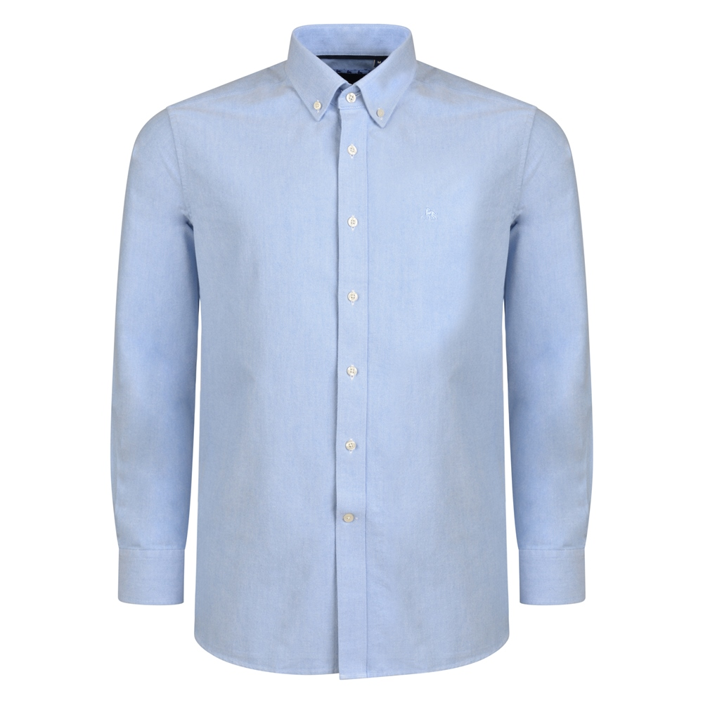 Blue Solid Oxford Button-Down Classic Fit Shirt 1