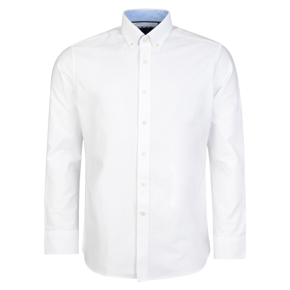 White Solid Oxford Button-Down Classic Fit Shirt 1
