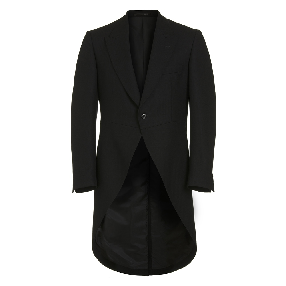 Edwardian Titanic Mens Formal Suit Guide Magee 1866 Black Classic Fit Morning Suit Tail Coat £359.00 AT vintagedancer.com