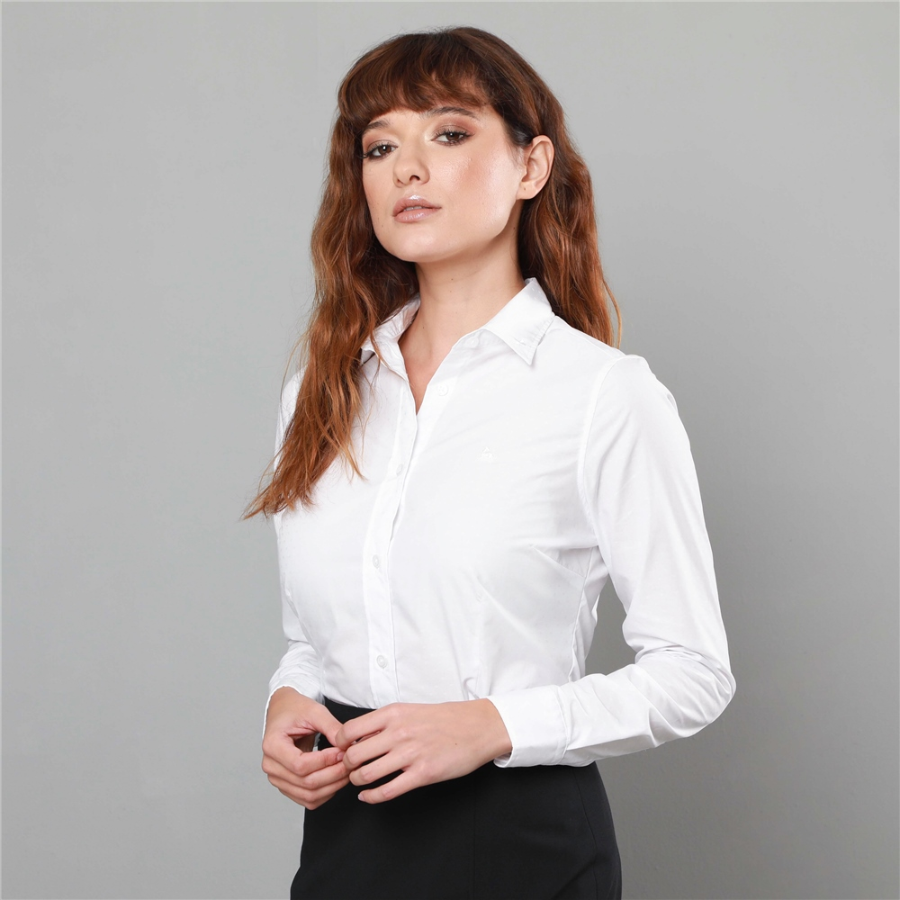 4a3f04f914 White Hannah Jacquard Classic Fit Shirt   Seasonal collections from ...