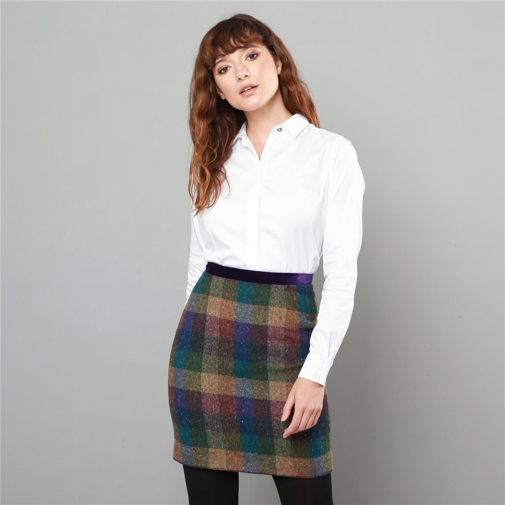 f56e45897 Purple Carey Salt & Pepper Donegal Tweed Skirt | Seasonal ...