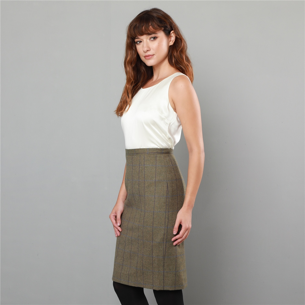 8c5f41cb6 Green Dana Country Check Tailored Fit Pencil Skirt | Seasonal ...