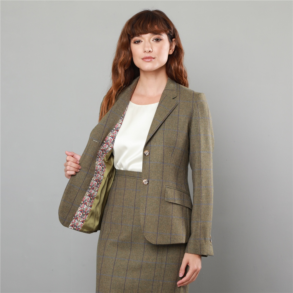 87ac4e449 Green Alicia Country Check Classic Fit Blazer | Seasonal collections ...