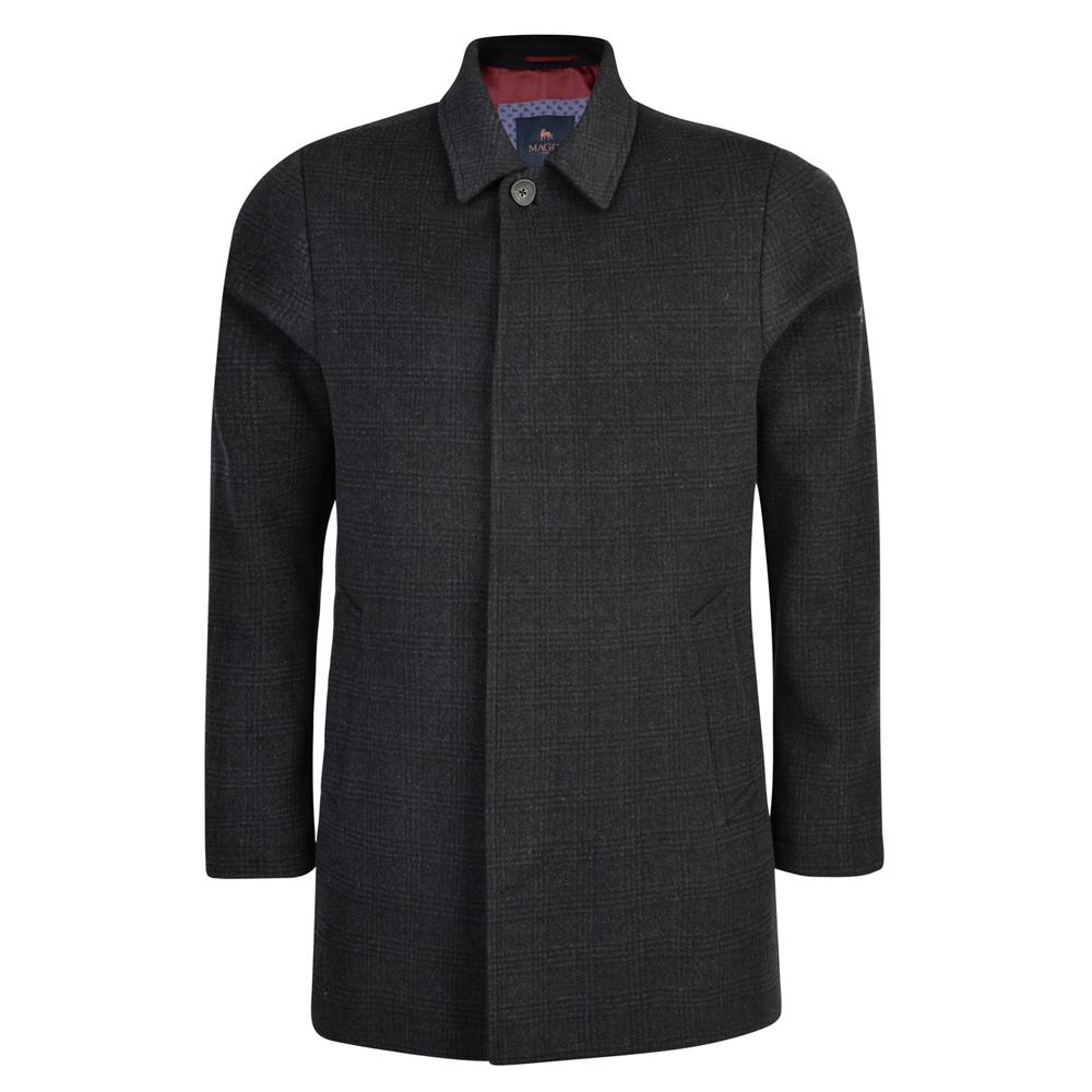 Magee 1866 Black & Charcoal Edergole Checked Coat