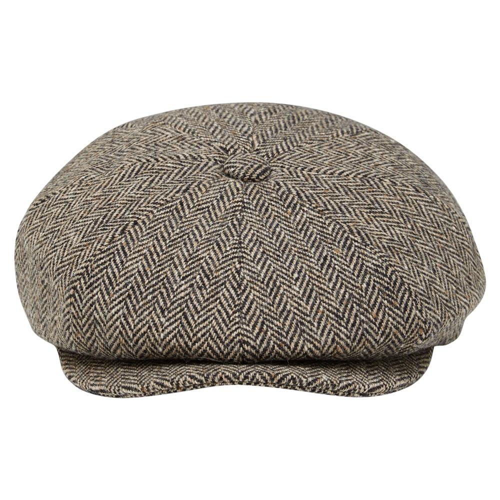 Edwardian Men's Fashion & Clothing 1900-1910s Magee 1866 Brown Herringbone Donegal Tweed Baker Cap £45.50 AT vintagedancer.com