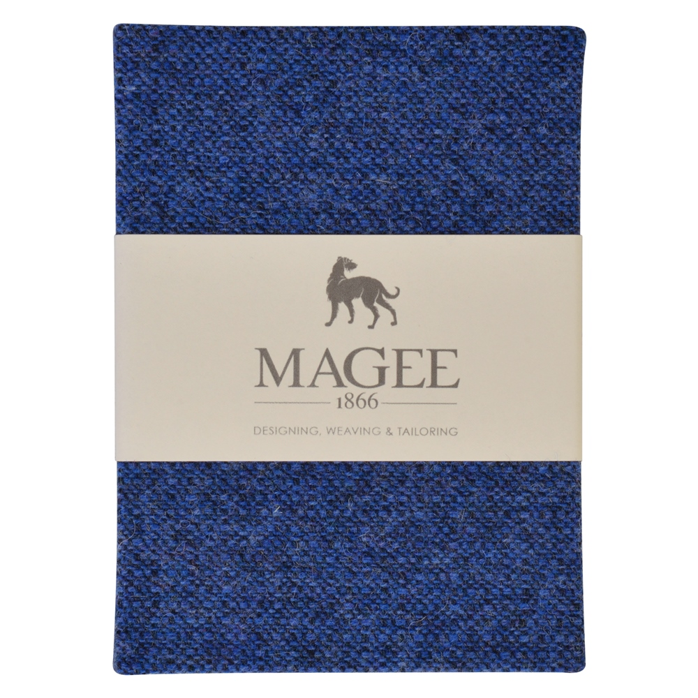 Blue Donegal Tweed Notebook A6 1