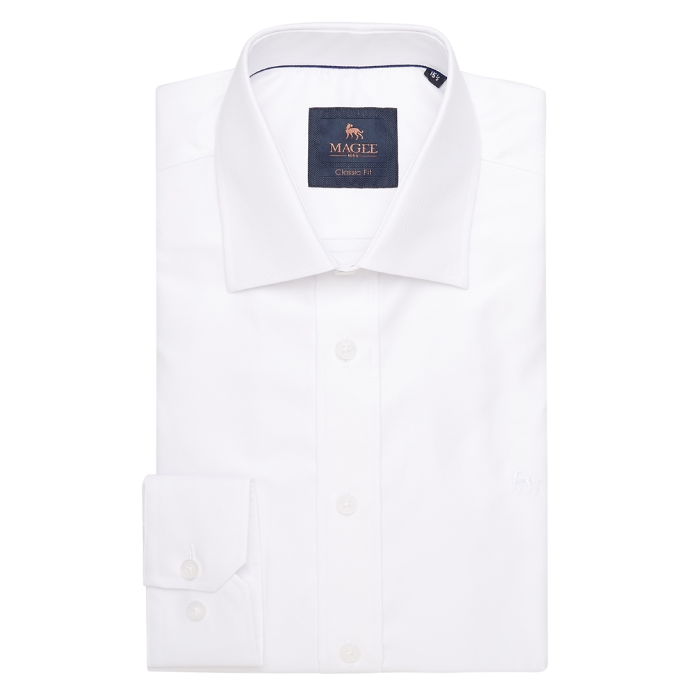 White Formal Dress Collar Classic Fit Shirt 1