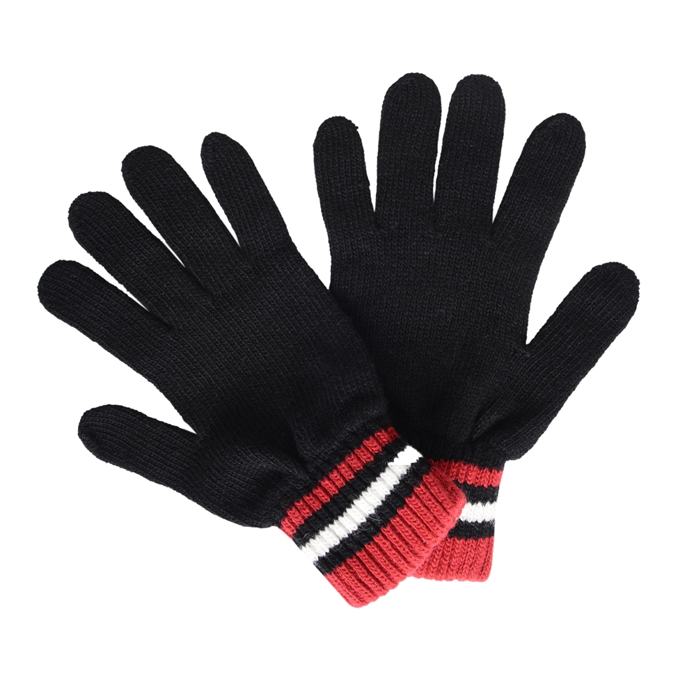 Cashmere Blend Gloves in Black, Red and White 1