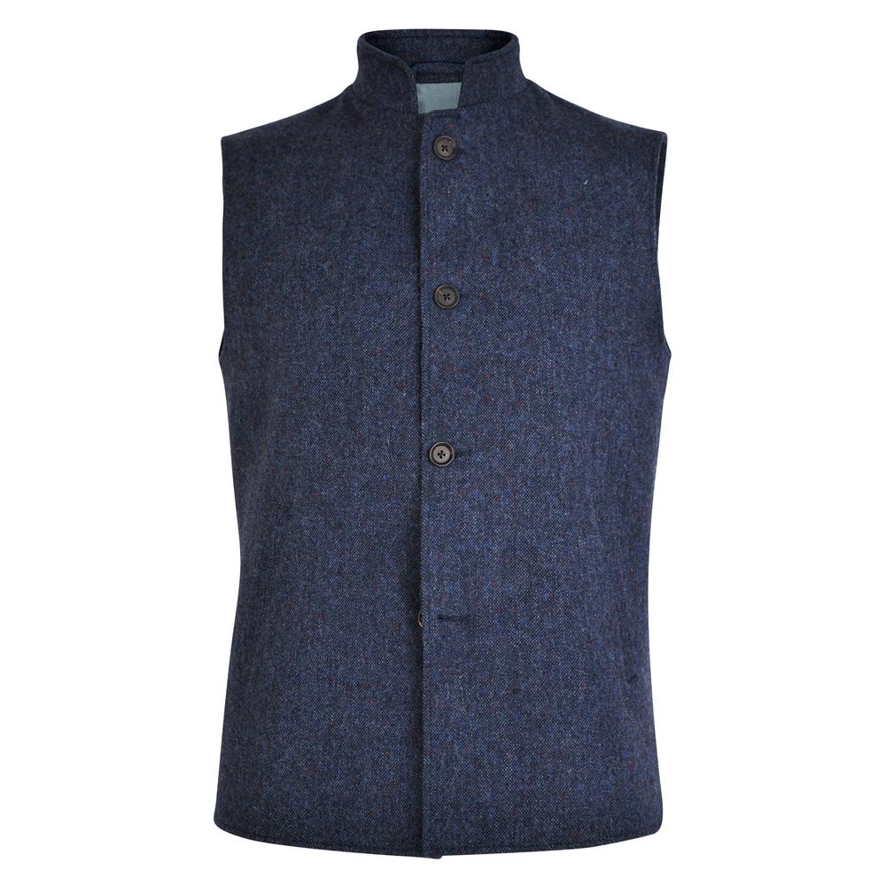 Edwardian Men's Fashion & Clothing 1900-1910s Magee 1866 Navy Cavan Donegal Tweed Salt  Pepper Gilet £219.00 AT vintagedancer.com